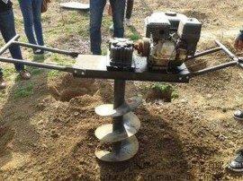 果树种植工具挖坑机 果园植树汽油挖坑机械 **的挖坑机