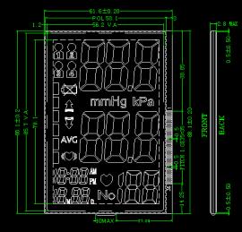 电子血压计液晶板