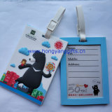 生产pvc滴胶3D卡通动物行李牌