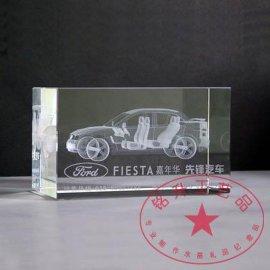 汽车模型水晶内雕,汽车工艺品,模型工艺品,