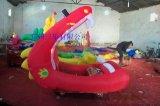 兒童遊樂車公園經營  紅色龍口充氣電瓶車廠家報價