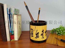**竹雕笔筒 定做旅游工艺品加LOGO促销礼品