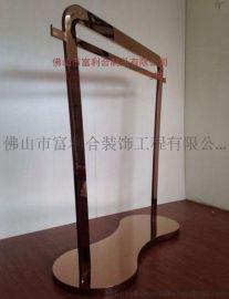 不锈钢展示架厂家 玫瑰金不锈钢展示架