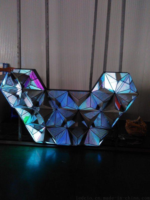 酒吧KTV全彩LED显示屏、酒吧LED吧台、酒吧显示屏吧台、LED魔方