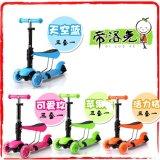 新款三合一儿童滑板车 多功能带座垫三轮婴儿学步车 0.5-0.7米高滑板车