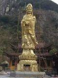 定制大型寺庙铜佛像、3米铜观音像