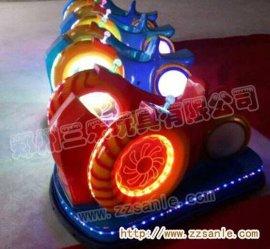 蜗牛儿童飞碟碰碰车,彩灯显示屏儿童电动玩具车