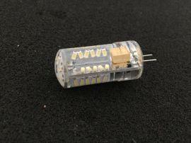 G4 57颗3014贴片灯360度全方面发光无毒硅胶G4硅胶灯通用高显指