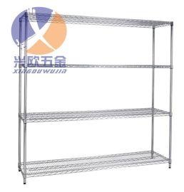 青岛不锈钢置物架订做 青岛不锈钢网格货架厂家批发