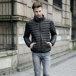 定制秋冬新款男装羽绒夹克轻薄型立领修身羽绒服外套