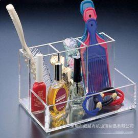 定做亚克力收纳盒子透明 桌面饰品收纳盒家居生活用品置放盒加工