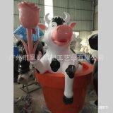 玻璃鋼植草動物雕塑玻璃鋼玫瑰花鬱金香花束雕塑組合情人節裝飾