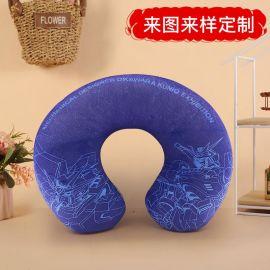 厂家定做卡通U型枕腰靠抱枕小枕头颈枕礼品来图定制
