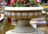杭州石雕花钵、宁波石雕花盆、嘉兴黄锈石花钵、浙江石雕花钵厂家