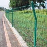 农场养殖圈地用双边丝护栏网公路护栏绿色铁丝网