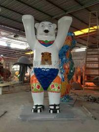 厂家定制 公园商场雕塑玻璃钢 环保功夫熊猫 款式新颖 价美物廉