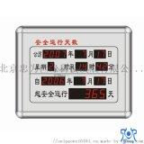 安全运行天数记录板 铝合金电子计时牌