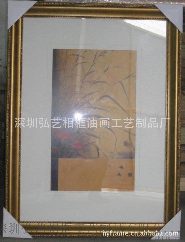 畫框生產廠家,定製木製油畫框、酒店大型仿古金銀鏡框裝飾畫框掛畫