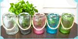 麻繩提手玻璃花瓶廠家,插花瓶,彩色玻璃插花瓶