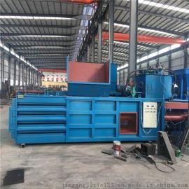 郑州甲庚120型卧式自动四道丝废纸箱压块机 打包机