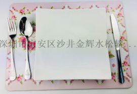 厂家专业定做出口类陶瓷配套 MDF 软磁 杯垫餐垫 工厂定制logo