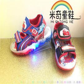 厂家直销凉鞋 闪灯鞋 童鞋 汽车总动员童鞋 凉鞋