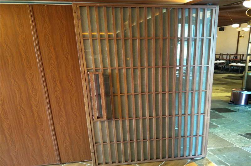 '井'字形仿古铝花格窗 '日'字形方管焊接铝花格