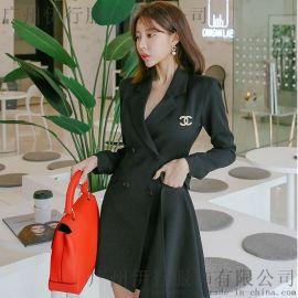 帕佳妮深圳品牌折扣批发女装 品牌折扣女装加盟尾货红色衬衫