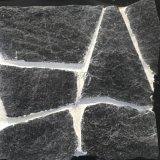 黑色板岩碎拼黑石英蘑菇石文化石