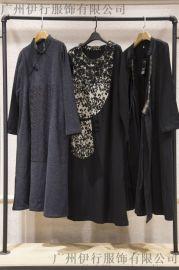 山西女装品牌尾货批发折扣女装 杭州  尾货批发市场深蓝色衬衫