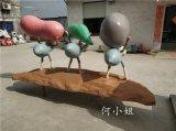 背行囊造型玻璃钢卡通蚂蚁雕塑创意动物模型