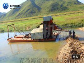 虹吸式淘金船  出口淘金设备  小型选金船