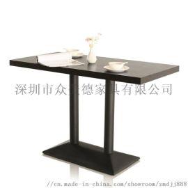西餐厅实木餐桌定做**新中式餐台深圳餐厅家具厂