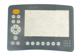 加工订制各种规格单色多色透明磨砂 PET/亚克力/PVC/PC 铭牌面板印刷QRD-028