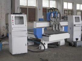 供应CNC数控三头木工雕刻机,室内门雕雕刻机,橱柜雕刻设备