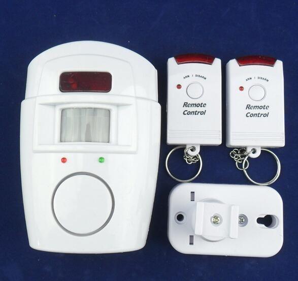 家用紅外報警器 電池供電紅外探測器 雙搖控紅外報警器