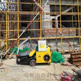 鲁科重工二次构造柱泵楼层卧式二次构造柱浇筑泵上料机
