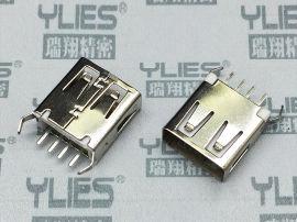 499-USB连接器 母座180度 A-TYPE