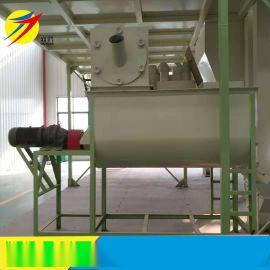 红玉公鸡饲料搅拌机 单轴双螺旋混合机 鸡饲料拌料机厂家直销