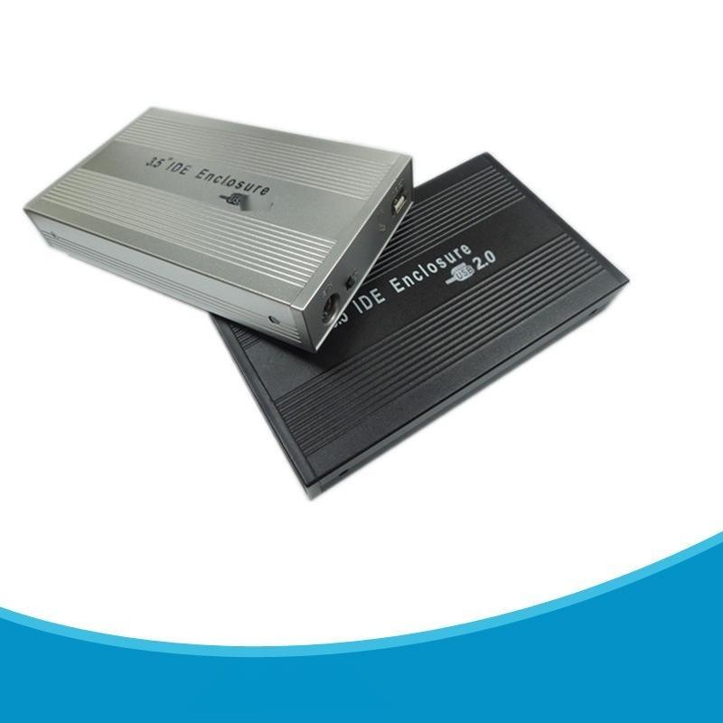 直销台式机电脑 单用移动硬盘盒子通用 IDE并口3.5寸USB2.0硬盘盒