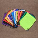 彩色涤纶袋束口袋背包袋双肩袋定制logo收纳袋