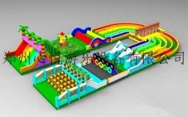 新款充气城堡蹦蹦床儿童娱乐竞技城闯关类游乐设施