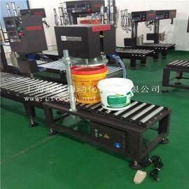 上海越甲供应20L25kg中小桶半自动排气压盖机