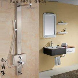 304不锈钢淋浴屏花洒套装 明装智能沐浴器 出水龙头喷头