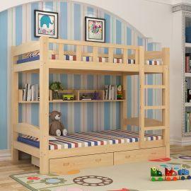 广汉实木床厂家,学生上下床定制,成都久久乐公寓床家具厂
