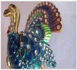 锌合金甩铸珠宝首饰动物形状收纳盒、物美价廉