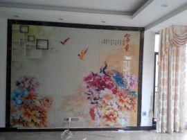 防城港市4d电视背景墙复彩工艺 一台机器开启财富之门