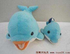 深顺兴毛绒玩具工厂定制短毛绒小鲸鱼