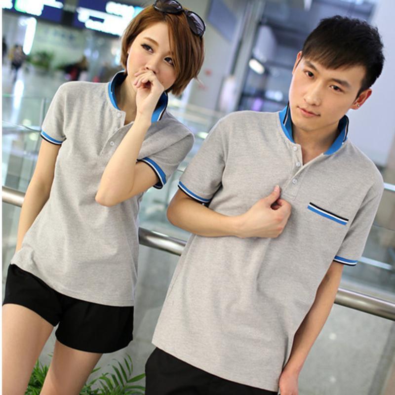 时尚撞色翻领polo广告衫定做工作服定制diy文化衫同学聚会T恤定做
