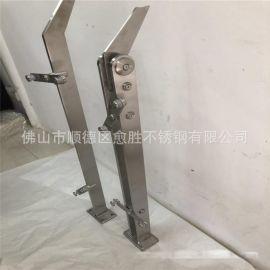 304不锈钢实心钢板立柱  上海宝钢大板激光成型316不锈钢单板立柱